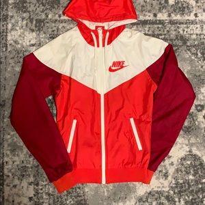 Nike Vintage White & Maroon Windbreaker